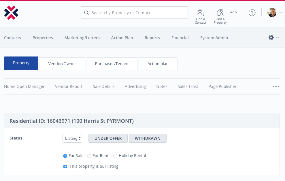 New look property page